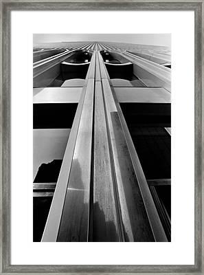 Looking-up World Trade Center Framed Print by Wernher Krutein