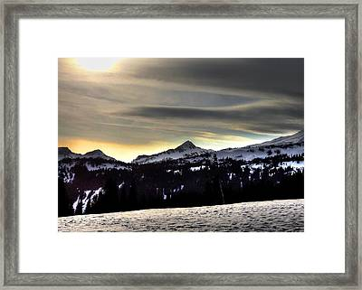 Looking West At Pyramid Peak Framed Print