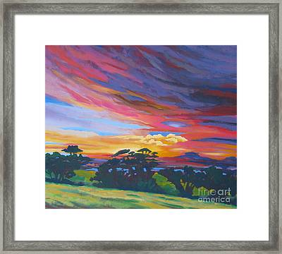 Looking West From Amador Hills Framed Print by Vanessa Hadady BFA MA
