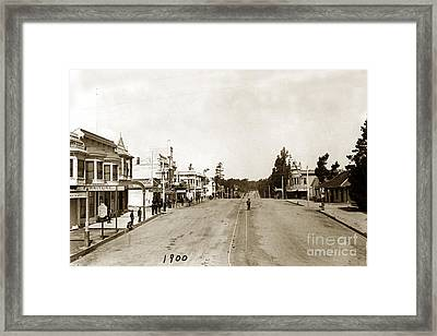 Looking West On Lighthouse Pacific Grove California  C. K. Tuttle Photo 1900 Framed Print