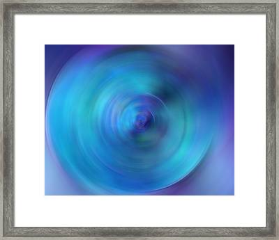 Looking Within - Energy Abstract Art By Sharon Cummings Framed Print