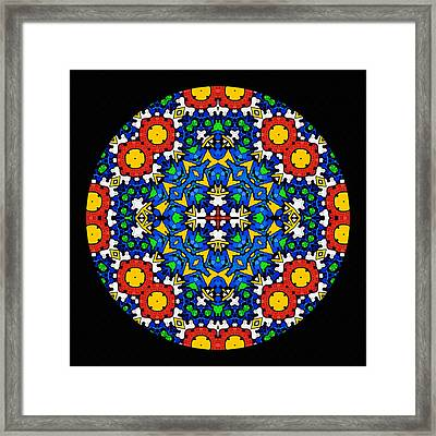 Looking Within - Mandala Framed Print