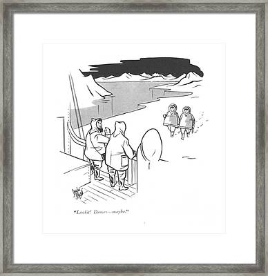Lookit! Dames - Maybe Framed Print