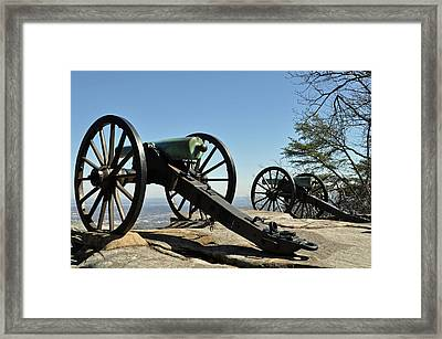 Lookout Mountain Civil War Cannon Framed Print by Bruce Gourley