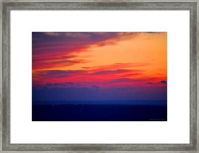 Lookout Mountain Sunset Framed Print by Tara Potts