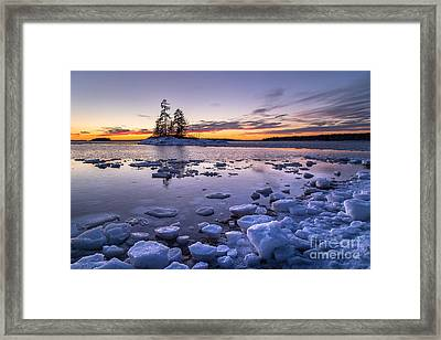 Lookout Point Ice Framed Print by Benjamin Williamson