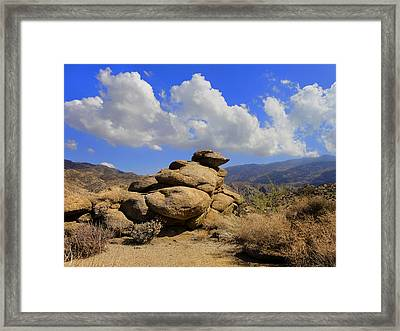 Framed Print featuring the photograph Lookout Rock by Michael Pickett