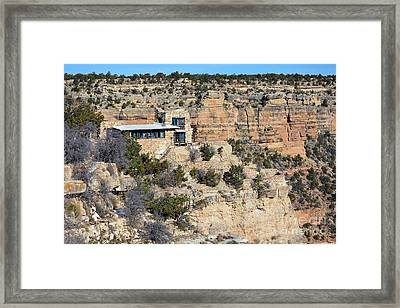 Lookout Studio At The Start Of The Bright Angel Trail Grand Canyon National Park Framed Print