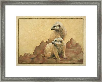 Lookouts Framed Print by James W Johnson