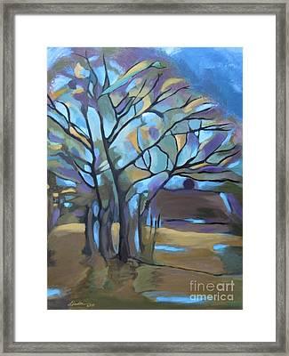 Looks Like Mondrian's Tree Framed Print
