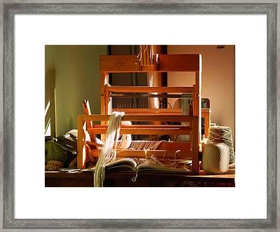 Loom In Winter Light Framed Print by Aliceann Carlton