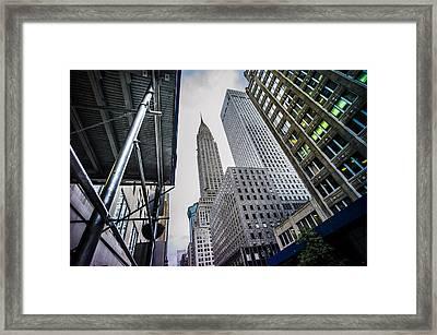 Looming Chrysler Framed Print by Chris Halford