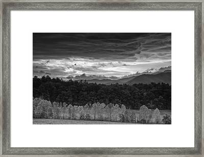 Looming Storm Over Cades Cove Framed Print by Andrew Soundarajan
