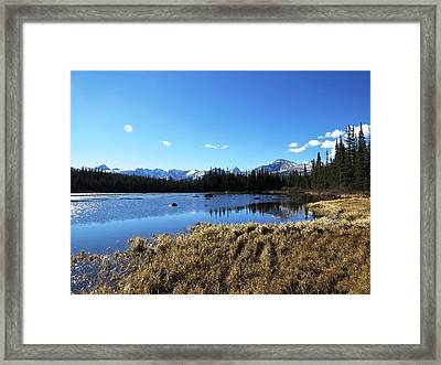 Looming Winter In The Rockies Framed Print