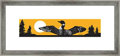 Loon Lake Framed Print
