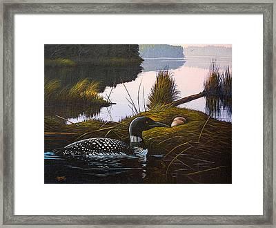 Loon Lake Framed Print