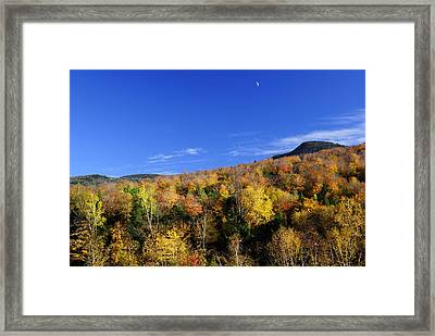 Loon Mountain Foliage Framed Print by Luke Moore