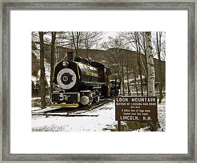 Loon Mountain Logger Framed Print by Richard Cox