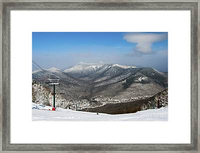 Loon Mountain Ski Resort White Mountains Lincoln Nh Framed Print by Glenn Gordon