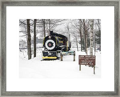 Loon Mountain Train Framed Print by Glenn Gordon