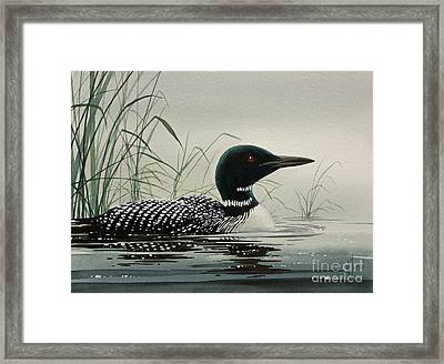 Loon Near The Shore Framed Print by James Williamson