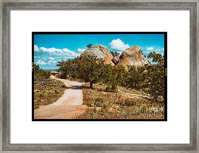 Loop Trail Scenery At Enchanted Rock State Natural Area - Texas Hill Country Framed Print