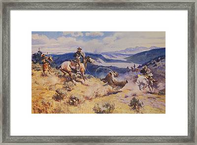 Loops And Swift Horses Are Surer Then Lead Framed Print