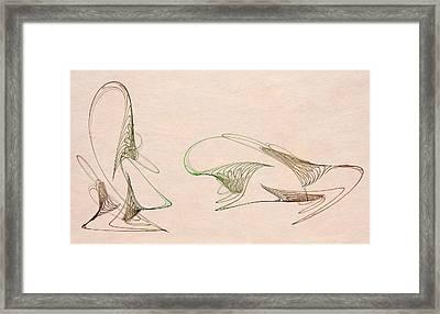 Loops Framed Print by David Ridley