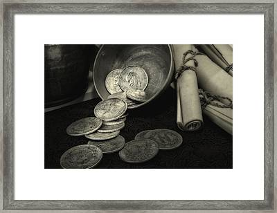 Loose Change Still Life Framed Print