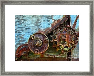Loose Gears Framed Print by Newel Hunter