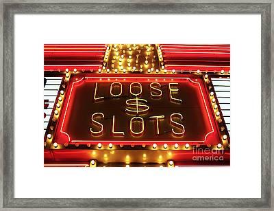 Loose Slots Framed Print
