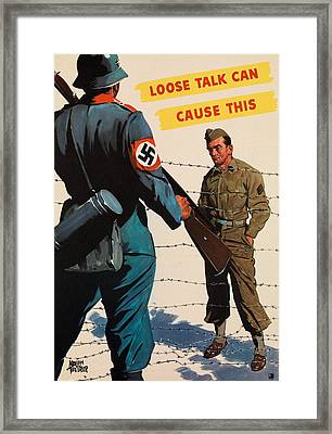 Loose Talk Can Cause This Framed Print