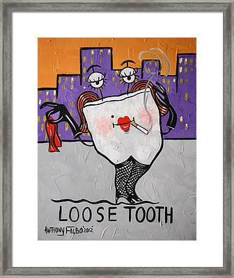 Loose Tooth Framed Print