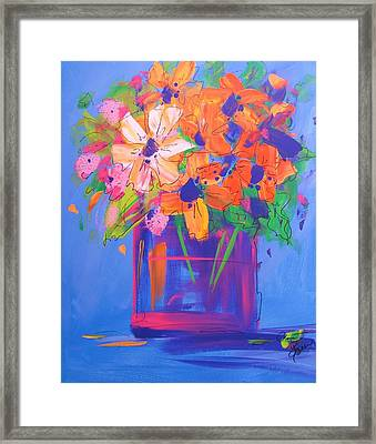 Loosey Goosey Flowers Framed Print by Terri Einer