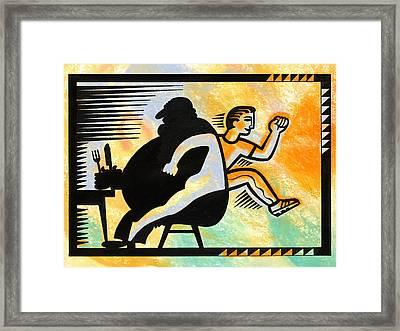 Loosing Weight Framed Print by Leon Zernitsky