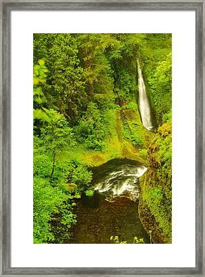 Loowit Falls Framed Print by Jeff Swan