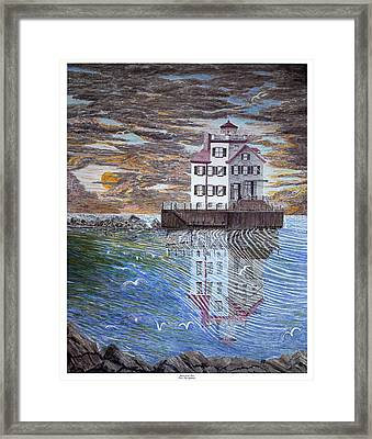 Lorain Lighthouse Framed Print by Frank Evans