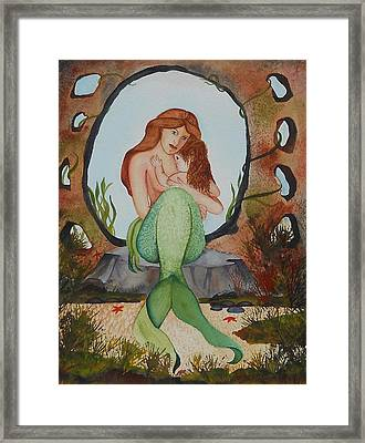 Loralie And Her Daughter Framed Print