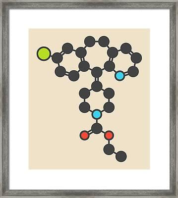 Loratadine Antihistamine Drug Molecule Framed Print by Molekuul