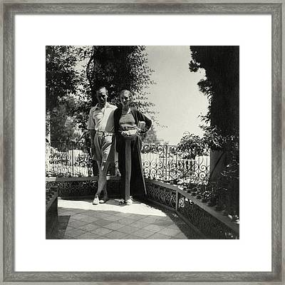Lord And Lady Brownlow In Tunisia Framed Print