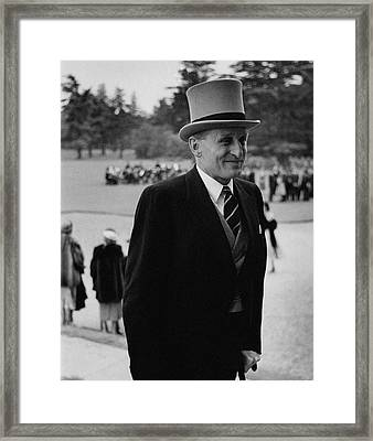 Lord Burghley Wearing A Suit And Top Hat Framed Print by Toni Frissell