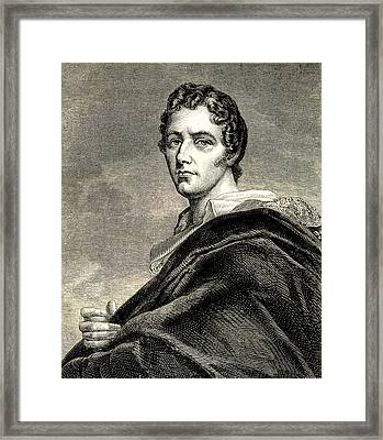 Lord Byron Framed Print by Collection Abecasis