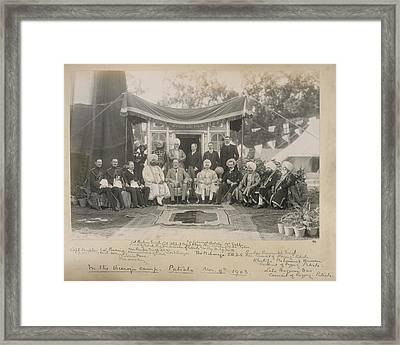 Lord Curzon And The Maharaja Of Patiala Framed Print by British Library
