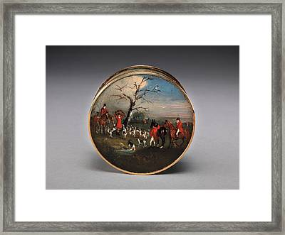 Lord Edward Thynne's Snuff Box, Decorated With Foxhunting Framed Print