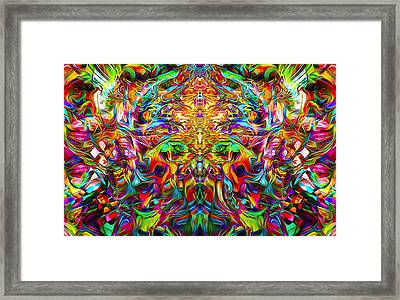 Framed Print featuring the painting Lord Ganesha by Jalai Lama
