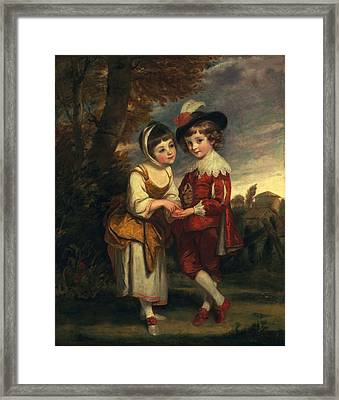 Lord Henry Spencer And Lady Charlotte Framed Print by Sir Joshua Reynolds