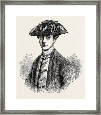 Lord Howe, A Noted Soldier Who Served As Commander-in-chief Framed Print by English School
