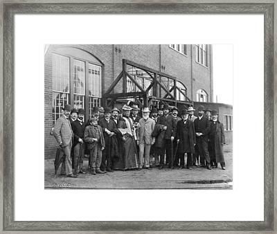 Lord Kelvin Visiting A Train Factory, Framed Print