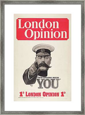 Lord Kitchener Army Recruitment Framed Print by Library Of Congress