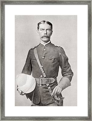 Lord Kitchener In 1882 As Major Of The Egyptian Cavalry.  Field Marshal Horatio Herbert Kitchener Framed Print by Bridgeman Images